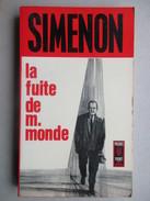 La Fuite De M. Monde (Simenon) éditions Presses Pocket De 1967 - Simenon