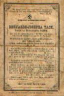 Souvenir Mortuaire TACK Bernarde (1801-1885) Wwe WYSEUR, P. Geboren En Overleden Te LAUWE - Images Religieuses