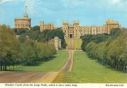 Vereinigtes Königreich: England -Berkshire -Windsor Castle From The Long Walk -Gel.