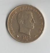 5 LIRE. NAPOLEONE IMPERATORE. 1812 M.COULEUR OR. 25 GRAMMES. D36 Mn. A Identifier - Italia