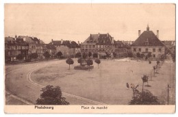 Phalsbourg - Place Du Marché -    + Verso - Phalsbourg