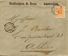 1893 Envelop Met Firmalogo  Lokaal Verzonden In Amsterdam  Met NVPH 34 Met Kleinrondstempel - Periode 1891-1948 (Wilhelmina)