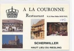 """CPM GF - 67 - Scherwiller - Multivues Restaurant """" A La Couronne"""" - Autres Communes"""