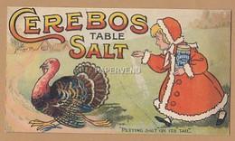 Advertising  Cerebos Salt Girl Putting Salt On A Turkey's Tail  42 - Advertising
