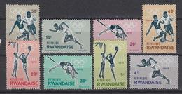 RWANDA Belgian Catalog  76-83 ** MNH – Olympic Games Tokyo 1964 - Rwanda