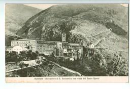 13633   Cpa  SUBIACO  :   Monastero Di S. Scolastica Con Vista Del Sacro Speco   ACHAT DIRECT !! - Italia