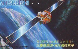 Télécarte Japon  SATELLITE  (788) ESPACE * TERRESTRE * MAPPEMONDE * Telefonkarte Phonecard JAPAN * GLOBE - Espacio
