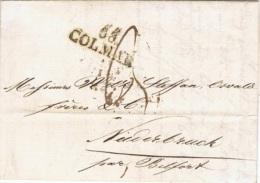 ALS-L8 - ALSACE-LORRAINE Belle Lettre De Colmar Pour Niederbruck 1827 - Marcophilie (Lettres)
