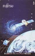 Télécarte Japon  SATELLITE  (808) ESPACE * TERRESTRE * MAPPEMONDE * Telefonkarte Phonecard JAPAN * GLOBE - Espacio