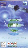 Télécarte Japon  SATELLITE  (810) ESPACE * TERRESTRE * MAPPEMONDE * Telefonkarte Phonecard JAPAN * GLOBE - Espacio