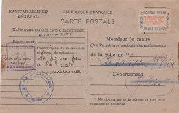 Be - SAINT ETIENNE (42) Ravitaillement Général Pour Le Maire De LA PALISSE St PRIX (03) -Carte Postale Fiche De Contrôle - Saint Etienne