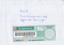 Nederland - Aangetekend/Recommandé  R-vignet 1 Kg - Brief Vertrek Spijkenisse - Stempel Spijkenisse Lenteakker - Poststempel