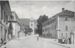 COUVET → Dorfstrasse Mit Kinder, Schöner Lichtdruck 1923 - NE Neuchâtel