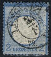 Lengenfeld 24/11 Auf 2 Groschen Blau - DR Nr. 20 - Oblitérés