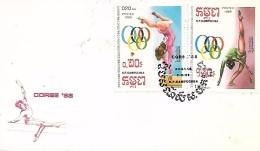 KAMPUCHEA  PHNOM PENH  Gymnastique Jeux Olympiques De Seoul 1988  2/02/88