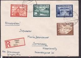 Einschreibbrief Deutsches Reich Stempel Gingen Nach Spremberg  1940 - Covers & Documents