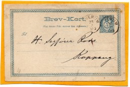 Norway 1883 Card Mailed - Briefe U. Dokumente