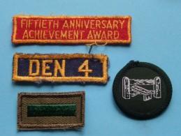 Boy Scout Badge ( 4 Pcs. ) Zie Foto Voor Detail ! - Scoutisme