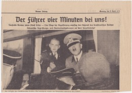 Newspapers Deutschland (Germany) Reich 2 April 1939 Photo Hitler Nazi - Magazines & Newspapers