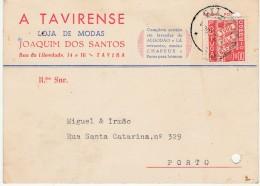 Bilhete Postal :: A Tavirense :: Loja De Modas :: Tavira :: 1960 :: Holed - Reclame