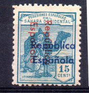 Sello 15cts Sahara. - Sahara Español