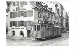 18970 - Bâle Barfusserplatz Début De La Falknerstrasse Tram Be 2/2171  BVA 1968 (format 10X15) - BS Bâle-Ville