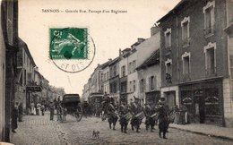CPA     -    SANNOIS   -   GRANDE RUE   -   PASSAGE D ' UN REGIMENT - Sannois