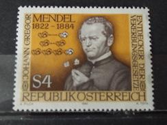 Timbre Neuf AUTRICHE 1984 : Généticien J. Gregor Mendel - 1945-.... 2ème République