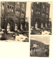 ITALIE- VALLEE D´AOSTE - THEATRE ROMAIN - 3 PHOTOS ORIGINALES 1953 - - Lieux