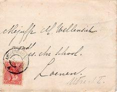 1905 Envelop Met Inhoud Van Velsen Via AMSTERDAM-UITGEEST A (grootrond) Naar Loenen A/D Vecht Met NVPH 60 - Covers & Documents