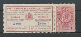 Tel Avec Souche  3F Cote 120 E   Charnière Sur Bandelette Et Sur Le Timbre - Telefoonzegels