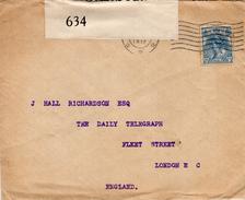 1918 Geopende En Gecensureerde Envelop Van Rotterdam Naar London E.C.  Met NVPH 63 - 1891-1948 (Wilhelmine)