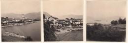 ITALIE - LAC MAJEUR - STRESA- FERIOLO - 3 PHOTOS ORIGINALES 1953 - 5,5x6 Cms - Lieux