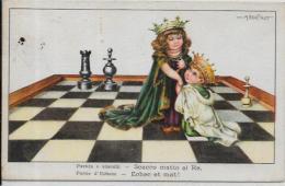 CPA échecs Chess Circulé Bertiglia - Echecs
