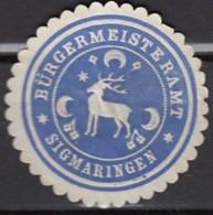 Siegelmarke Vignette Oblate: Sigmaringen, Bürgermeisteramt - Stempel & Siegel