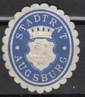Siegelmarke Vignette Oblate: Augsburg, Stadtrat - Stempel & Siegel