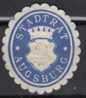 Siegelmarke Vignette Oblate: Augsburg, Stadtrat - Cachets