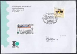 BRD 2806 EF Auf Brief Mit Sonderstempel: Holzwickede 150 Jahre Post 1.6.2011, Vignette: Dt. Philatelistentag Wuppertal - BRD