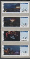 FAROES,  2016, MNH,ATM FRANKING LABELS, MUSIC, CELEBRATIONS, MOUNTAINS, 4v - Musica