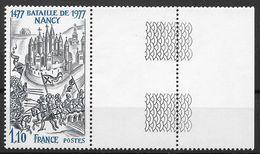 Frankreich 1977 / MiNr.  2038  Rechter Rand, Rand War Nach Hinten Geknickt   ** / MNH   (o3008) - Nuevos
