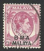 Malaya, BMA, Straits Settlements 10 C. 1945, Sc # 262, Mi # 7, Used - Malaya (British Military Administration)
