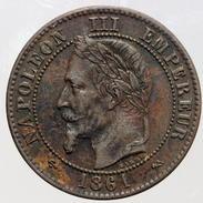 2 Centimes Napoléon III - 1861 K - B. 2 Centimes