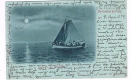 D-6792   BORKUM : Segelpartie Bei Mondschein - Borkum