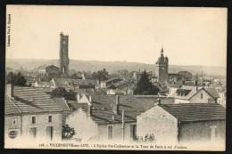 Villeneuve Sur Lot:: L'Eglise Ste-Catherine Et La Tour De Paris A Vol D'oiseau    -   SUP - Villeneuve Sur Lot
