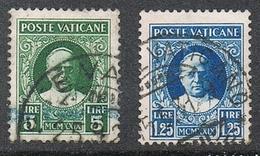 VATICAN N°34 ET 37 - Oblitérés