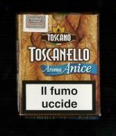 Tabacco Pacchetto Di Sigari Italia - Toscanello Aroma Anice Da 5 Pezzi - Tobacco-Tabac-Tabak-Tabaco - Empty Cigarettes Boxes
