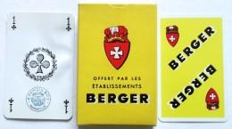 ANCIEN JEU DE 32 CARTES ETABLISSEMENTS BERGER . A. CAMOIN & CIE MARSEILLE . PIQUET BELOTE MANILLE - 32 Cards