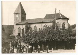 Photo Carte 17x11,9 Cm EULMONT Sortie De L'Eglise 2 - Autres Communes