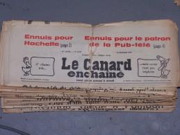 Le Canard Enchaîné - Année 1972 Complète (en Principe) - Política