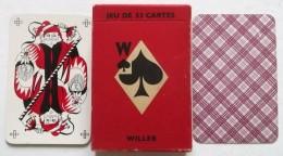 ANCIEN JEU DE 53 CARTES WILLEB . QUALITE GLACEE REF. 540 LAVABLE - Cartes à Jouer